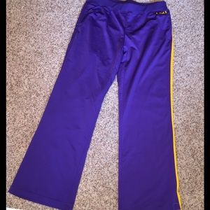 LSU Purple Gold Nike Jogging Pants, NWT, XL
